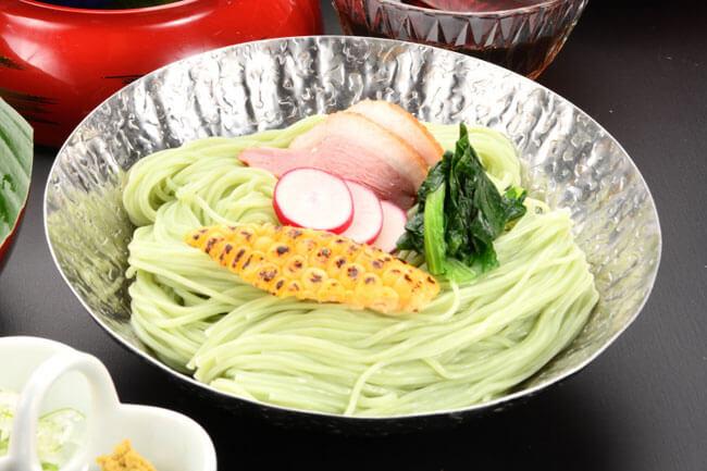 山勝製麺一筋縄 素麺(抹茶)